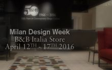 B&B Italia new proposals for the Milan Design Week