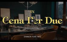 "The B&B Atoll sofa featured in the short ""Cena per Due"""